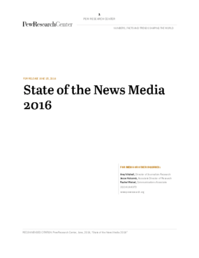 State of News Media 2016
