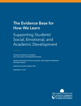 The Evidence Base for How We Learn: Supporting Students' Social, Emotional, and Academic Development